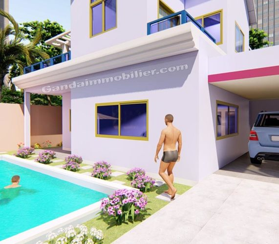 Modèle de villa à construire pour la diaspora.