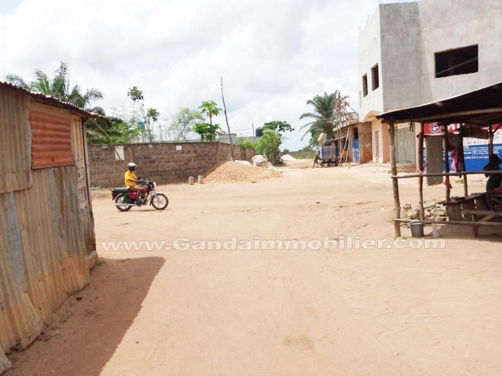 Vue environnante zone parcelle en vente à zogbadjè