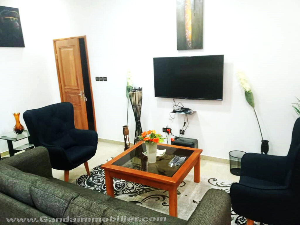 Le séjour appartement meublé à Cotonou
