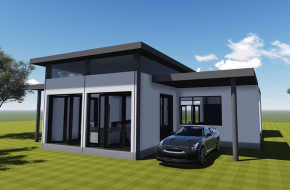 Modèle et plan de maison à construire au Bénin