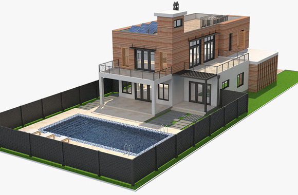 Construire villa moderne avec piscine au Bénin