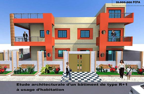 Plan de construction maison locative au Bénin