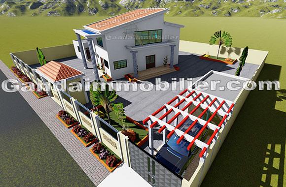 Construire une maison au Bénin. Modèle et plan de maison à construire au Bénin