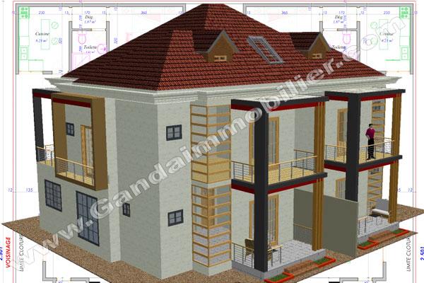 Projet de construction de villa luxueuse à Cotonou Bénin