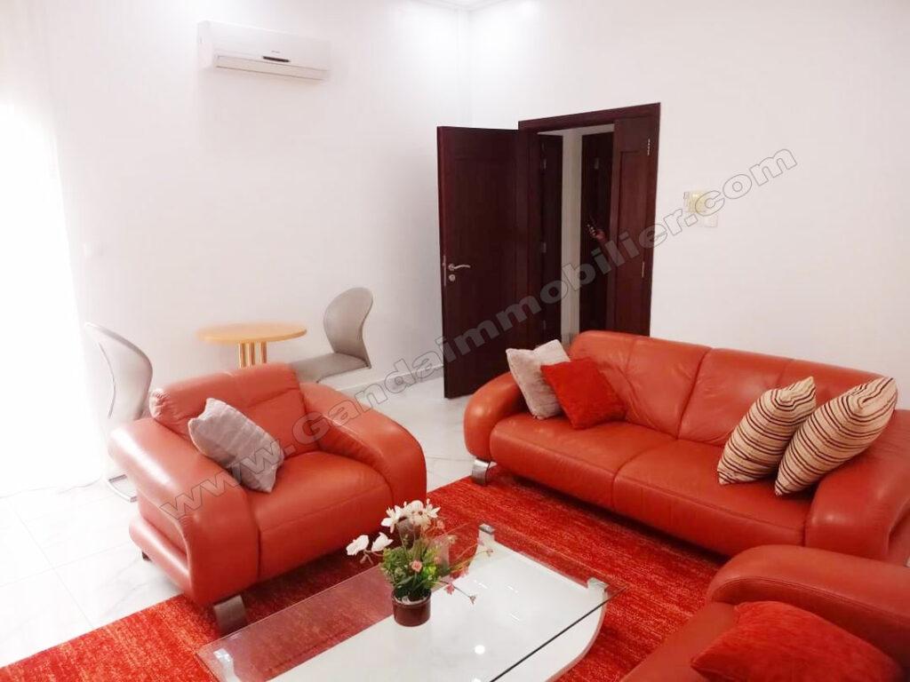 appartement meublé lumineux de 02 pièces à cotonou