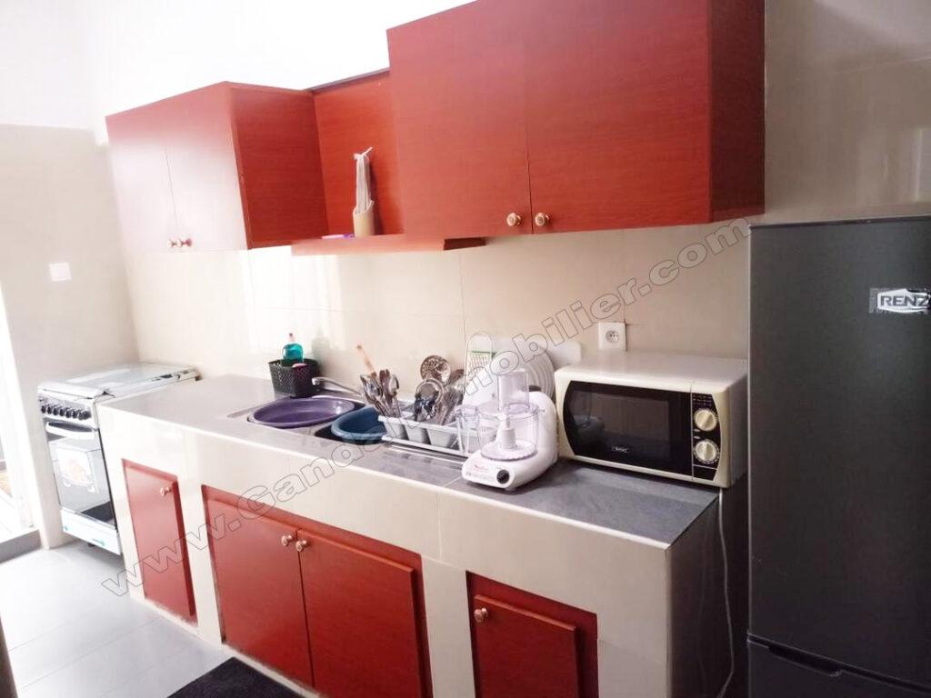 cuisine équipée d'appartement meublé