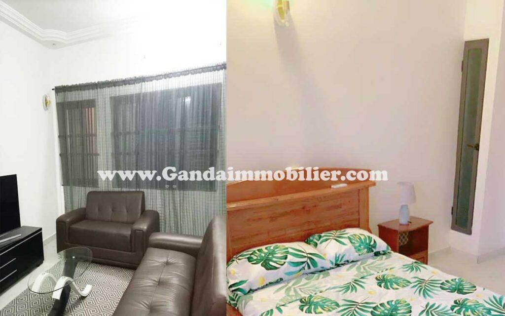 Appartement 02 Chambres salon à louer à Calvaire, Fidjrossè