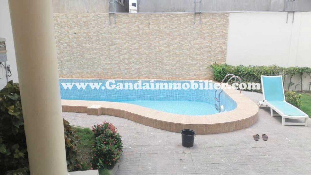 Villa meublé avec piscine mise en location à Cotonou