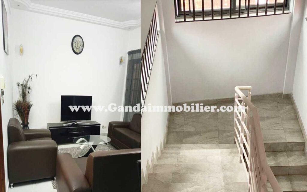 Il est mis en location à Calvaire Fidjrossè un appartement meublé et climatisé