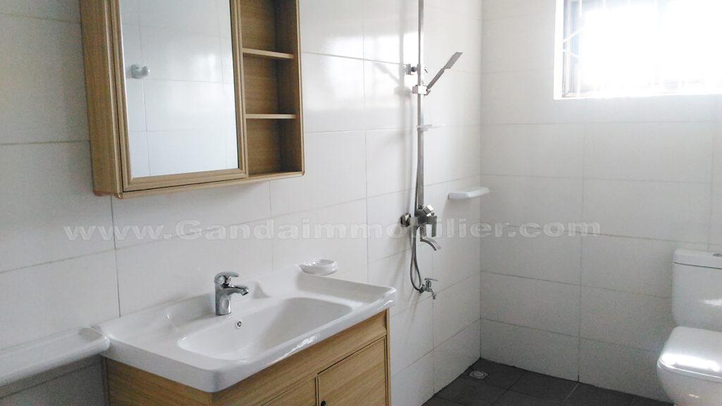 Grande salle d'eau d'appartement meublé à fidjrossè